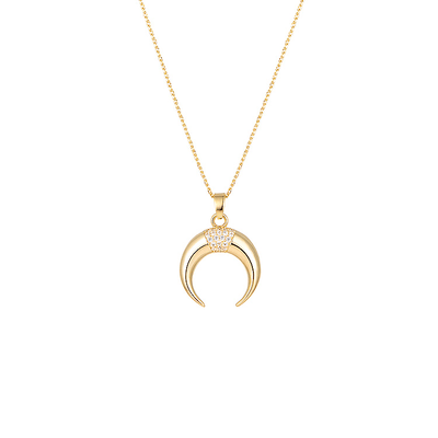 J.Bubs Necklaces JOVITA 14k Gold Plated Horn Necklace