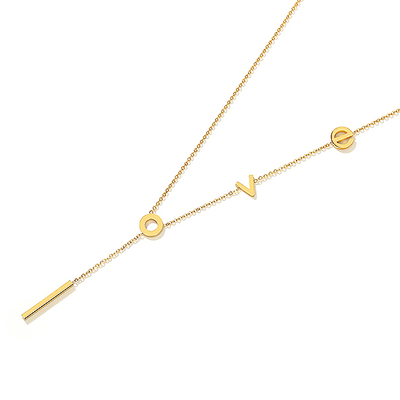 J.Bubs Necklaces LOVE Letters 18k Gold Plated Necklace