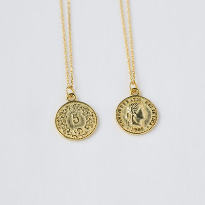 J.Bubs Necklaces OLIVIA 18k Gold Plated 925 Coin Necklace
