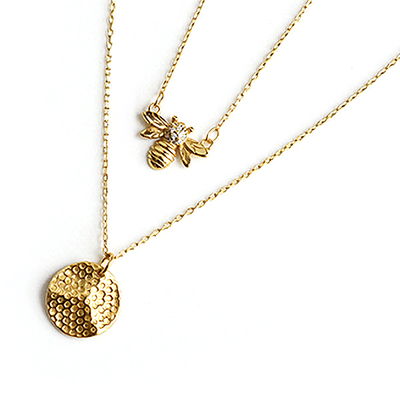 J.Bubs Necklaces QUEENIE 18k Gold Plated 925 Necklace