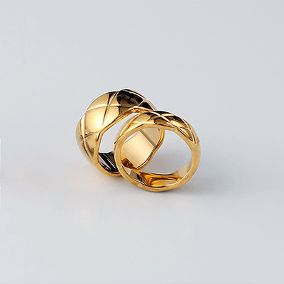 J.Bubs Rings COCO Gold Quilted Ring