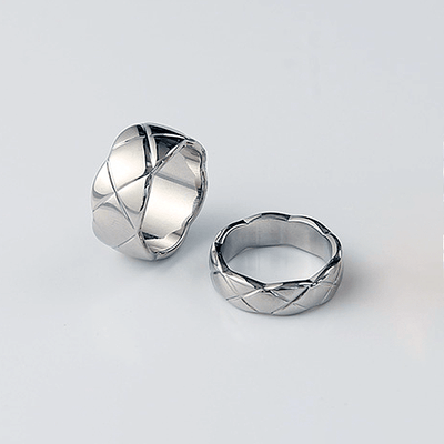 J.Bubs Rings COCO Silver Quilted Ring