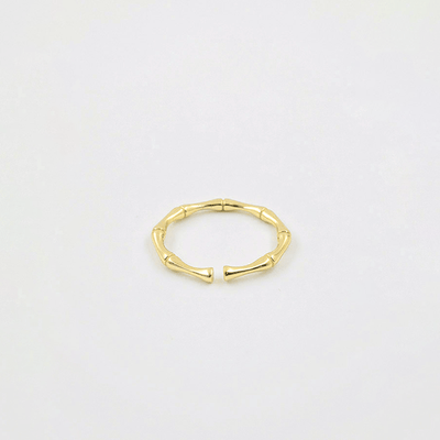 J.Bubs Rings EDEN 14k Gold Plated 925 Bamboo Ring