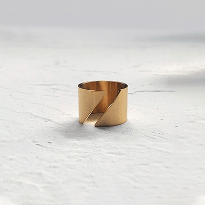 J.Bubs Rings GIULI 14k Gold Plated Geometric Ring
