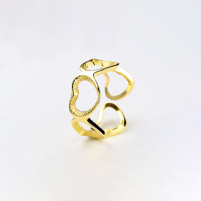 J.Bubs Rings KINSLEY 18k Gold Plated 925 Love Ring
