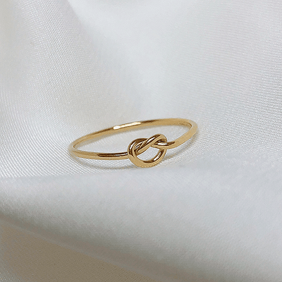 J.Bubs Rings US Ring Size 5 MARGO 14k Gold Plated Infinity Ring