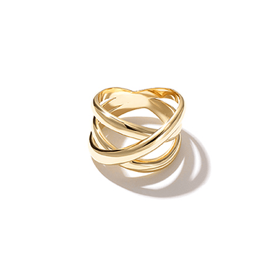 J.Bubs Rings US Ring Size 6 FREDDIE 14k Gold Plated Intertwined Ring