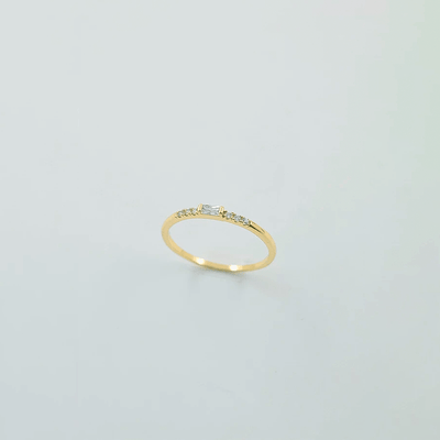 J.Bubs Rings US Ring Size 6 GEORGIA 14k Gold Plated Gatsby Ring