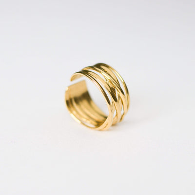 J.Bubs Rings ZONIA Gold Entwined Ring