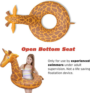 GoFloats Giraffe Jr Pool Float Party Tube® - Inflatable Raft for Kids
