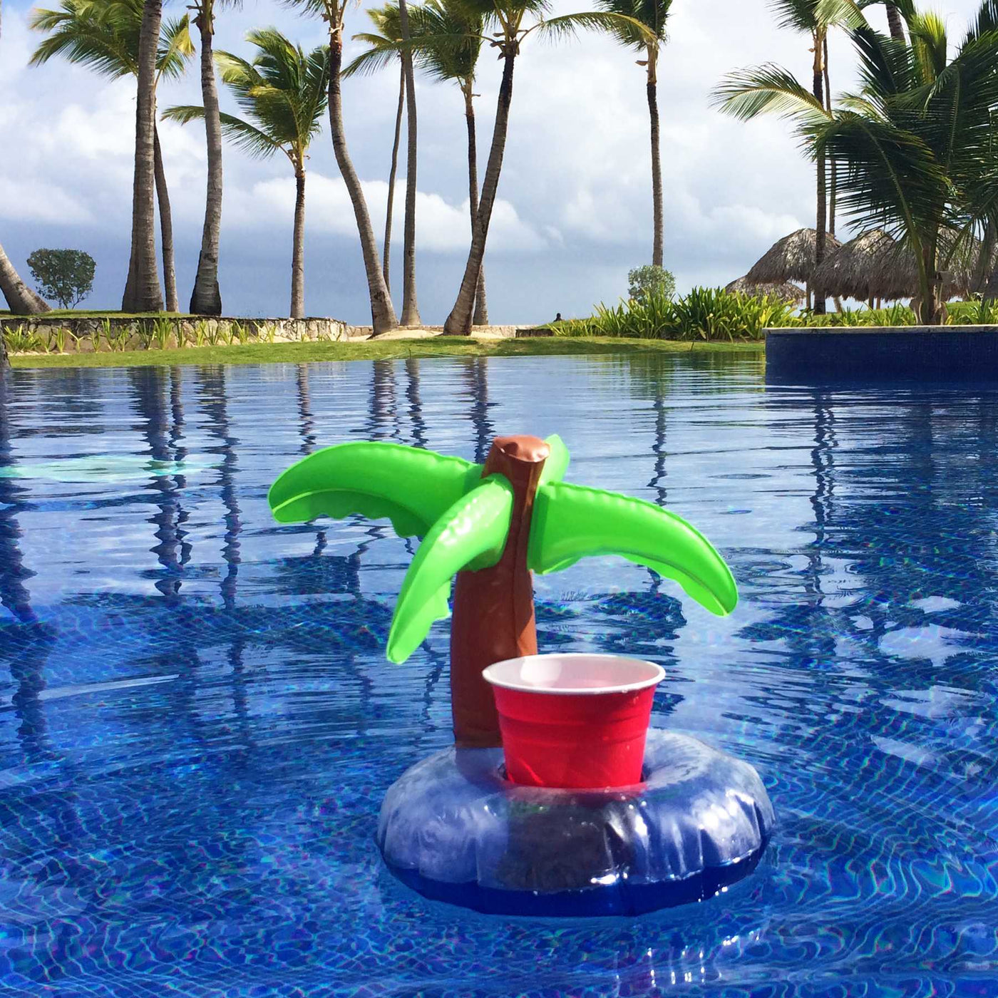 Drinks Holder /'Palm Island /'//Inflatable glass and cans Holder
