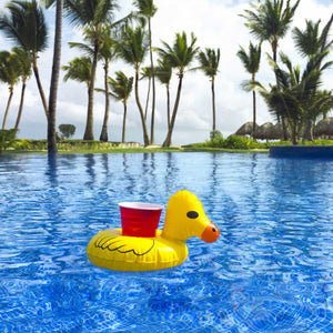 GoFloats Inflatable Duck Drink Holder (3 Pack)