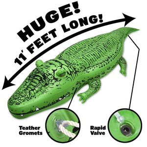 GoFloats BigAl' Giant Inflatable Alligator Pool Float for Adults & Kids