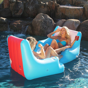 GoFloats Lazy Buoy Floating Lounge Chair with Cup Holders - The Most Comfortable Pool Float EVER