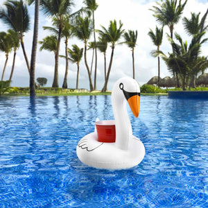 GoFloats Inflatable Swan Drink Holder (3 Pack)