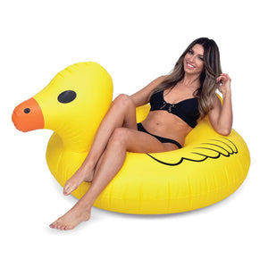 GoFloats Rubber Duck Pool Float Party Tube® - Inflatable Raft for Adults & Kids