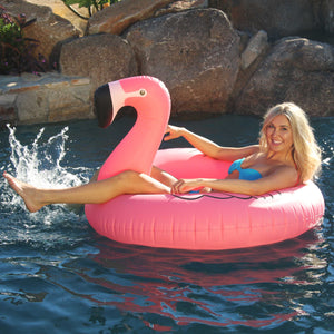 Pink Flamingo Pool Float Inflatable Raft Tube