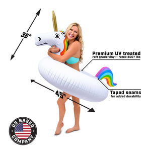 GoFloats Unicorn Pool Float Party Tube® - Inflatable Raft for Adults