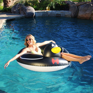 GoFloats Penguin Pool Float Party Tube® - Inflatable Raft for Adults & Kids