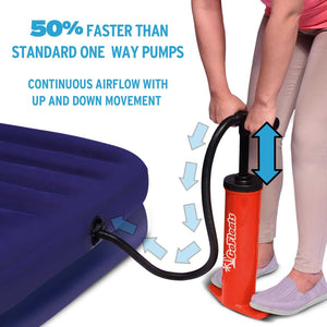 GoFloats Rapid Inflation Manual Air Pump (For Rafts, Air Mattresses and Sports Balls)
