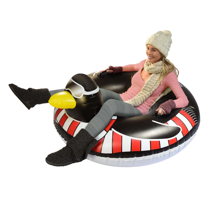 GoFloats Penguin Winter Snow Tube - The Ultimate Sled & Toboggan