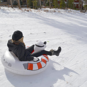 GoFloats Polar Bear Winter Snow Tube - The Ultimate Sled & Toboggan