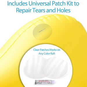 GoFloats Universal Tote Bag / Float Kit with 2 Raft Repair Kits and Grab Rope