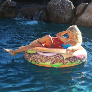 GoFloats Cheeseburger Pool Float Party Tube® - Inflatable Raft for Adults & Kids