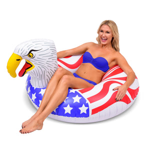GoFloats American Eagle Pool Float Party Tube® - Inflatable Raft for Adults & Kids