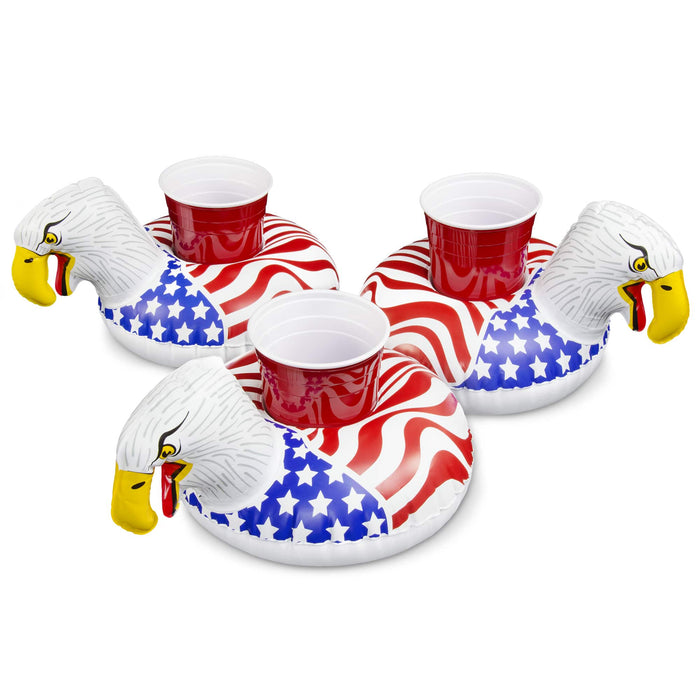 GoFloats American Screaming Eagle Drink Float 3 Pack - Float Your Drinks in Style