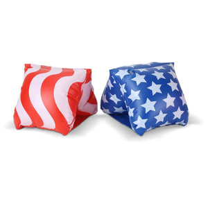 GoFloats America Flag Adult Water Wing Floaties (Novelty USE ONLY)