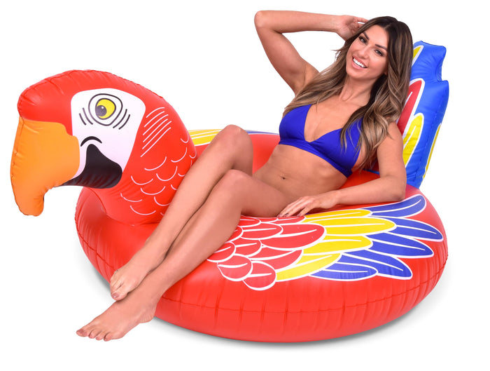 GoFloats Tropical Parrot Pool Float Party Tube® - Inflatable Raft for Adults & Kids