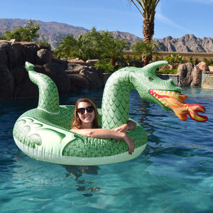 GoFloats Fire Dragon Pool Float Party Tube® - Inflatable Raft for Adults