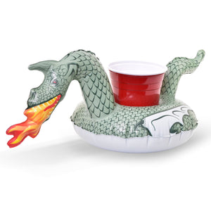 GoFloats Dragon Inflatable Fire Dragon Drink Holders (3 Pack) - Float Your Drinks in Style