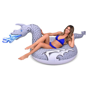 GoFloats Ice Dragon Pool Float Party Tube® - Inflatable Raft for Adults & Kids