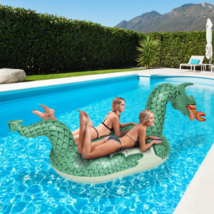 GoFloats Dragon Giant Inflatable Fire Dragon Pool Float