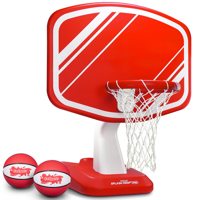 GoSports Splash Hoop PRO Poolside Basketball Game | Includes Hoop, 2 Balls and Pump