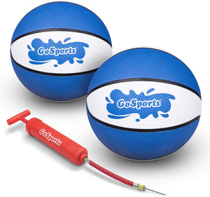 "GoSports Blue Water Basketballs Set of 2 | Size 3 (7"") Pool Basketballs for Splash Hoop PRO and Similar Pool Hoops"