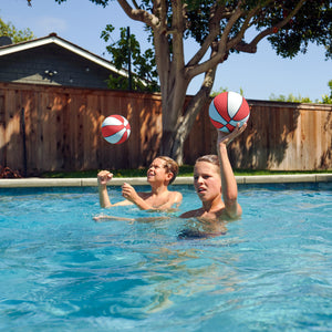 "GoSports Red Water Basketballs Set of 2 | Size 3 (7"") Pool Basketballs for Splash Hoop PRO and Similar Pool Hoops"