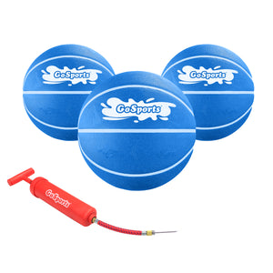 GoSports Swimming Pool Basketballs 3 Pack - Great for Floating Water Basketball Hoops