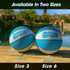 GoSports Water Basketball 2 Pack - Size 6 | Great for Swimming Pool Basketball Hoops