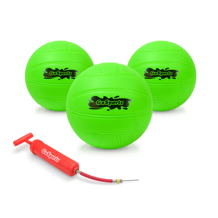 GoSports Water Volleyball 3 Pack | Great for Swimming Pools or Lawn Volleyball Games