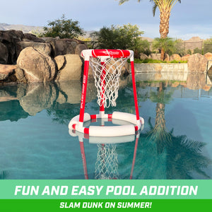 GoSports Splash Hoop 360 Floating Pool Basketball Game | Includes Hoop, 2 Balls and Pump