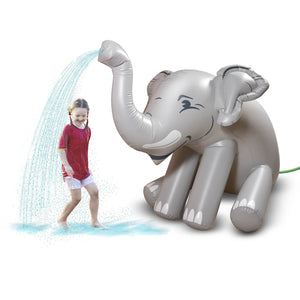 GoFloats Giant Inflatable Elephant Party Sprinkler | 5 Feet Tall Yard Sprinkler for Kids Summer Fun