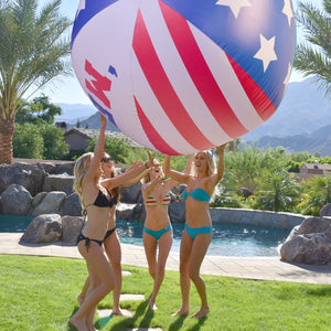 GoFloats 6' Giant 'MERICA Inflatable Beach Ball, Extra Large Jumbo Beach Ball | Patch Kit Included