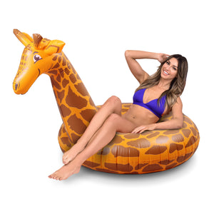 GoFloats Stretch the Giraffe Party Tube Inflatable Raft for Adults and Kids