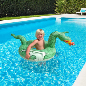 GoFloats Fire Dragon Jr Pool Float - Inflatable Raft for Kids