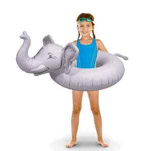 GoFloats Elephant Jr Pool Float Party Tube® - Inflatable Raft for Kids