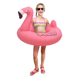 GoFloats Flamingo Jr Pool Float - Inflatable Raft for Kids