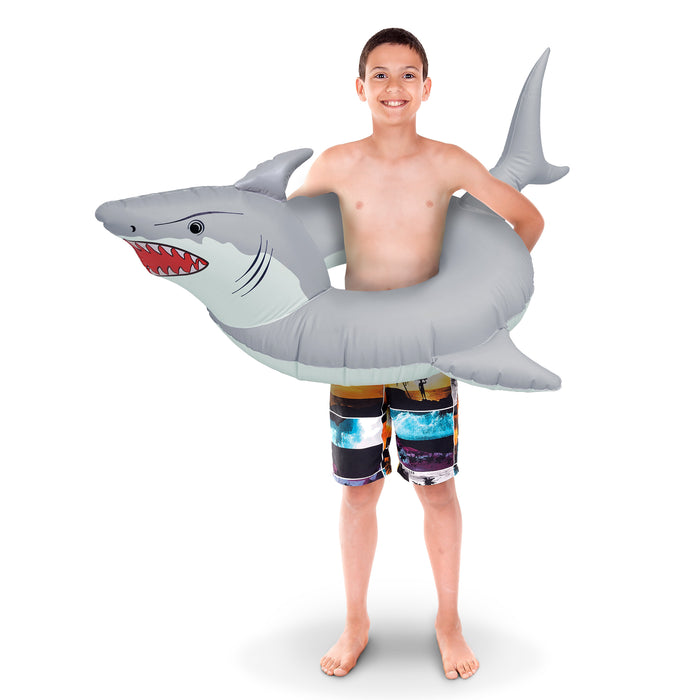 "GoFloats ""Great White Bite' Jr Pool Float Party Tube® - Inflatable Raft for Kids"